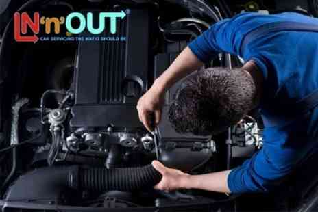 In 'n' Out Milton Keynes - Xpress MOT Plus Oil and Fluid Top Ups - Save 61%