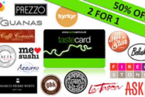 Tastecard - 12 month tastecard membership - only £39 - Save 51%