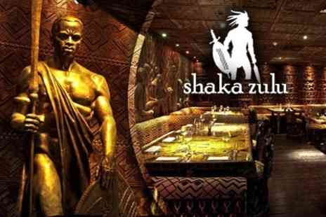 Shaka Zulu - Three Courses of Authentic South African Cuisine Plus a Glass of Bubbly - Save 63%