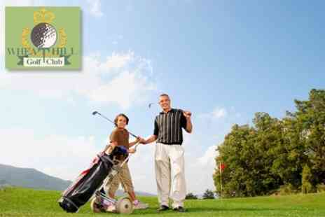 Wheathill Golf Club - Round of Golf for Two Plus Breakfast Roll and Hot Drink Each - Save 61%