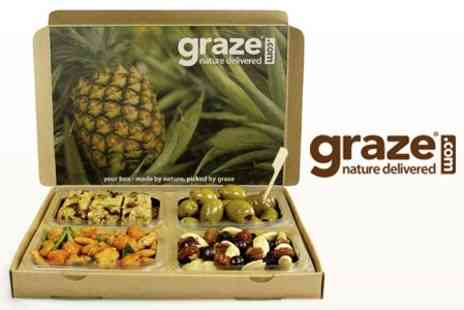 graze - Four Healthy Snack Boxes Delivered Fresh to Your Door for £5.50 - Save 61%