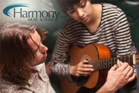 Harmony Music School - Eight 30 Minute Music Lessons including Piano, Guitar and Clarinet for £29 - Save 71%