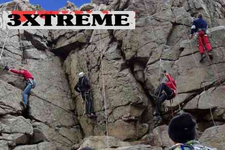 3extreme - Two hours of rock climbing PLUS one hour of abseiling - Save 70%