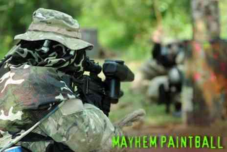 Mayhem Paintball - Half Day Paintball Experience for Six - Save 62%