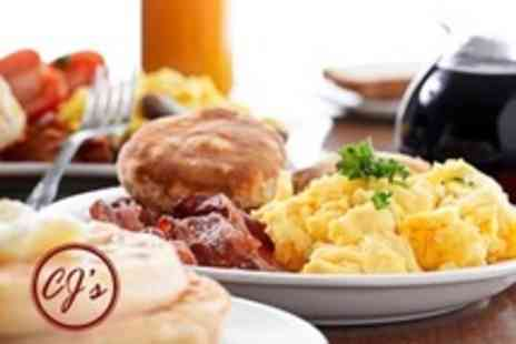 CJs - Breakfast or Lunch For Two With a Drink and Dessert Each - Save 57%