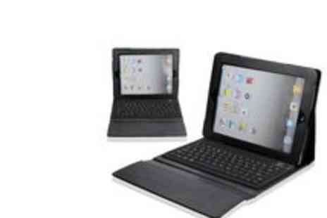 Big Bargain Store - iPad Bluetooth Keyboard PU Leather Case - Save 50%
