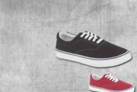 Buy It Now Gifts - Canvas Trainers Mens Grey or Burgundy - Save 48%