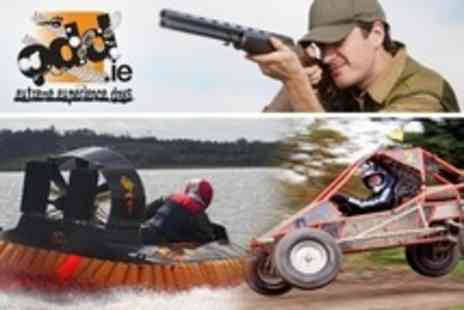 ODD - Hovercrafting, Powerturn Dragster Karting, and Laser Clay Pigeon Shooting For One - Save 62%