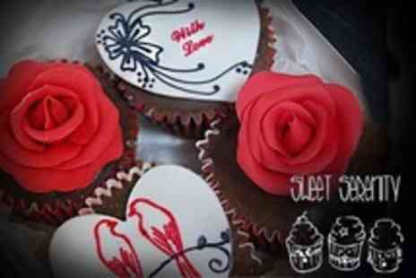 Sweet Serenity - Four Handmade Valentines Cupcakes - Save 50%