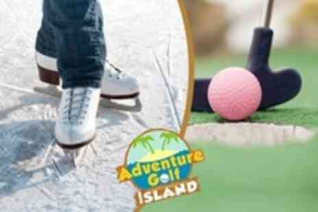Adventure Golf Island - Pirate Themed Golf or Ice Skating - Save 54%