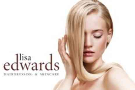Lisa Edwards Hairdressing & Skincare - Half Head Highlights With Cut and Blow Dry Plus Toner and Repair Shine Treatment - Save 70%