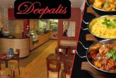 Deepalis Restaurant - Vegetarian Three Course Indian Meal For Two - Save 40%