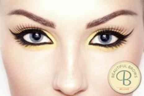 Beautiful Brows - Full Set of Eyelash Extensions With Tint Plus Eyebrow Shape and Tint - Save 52%