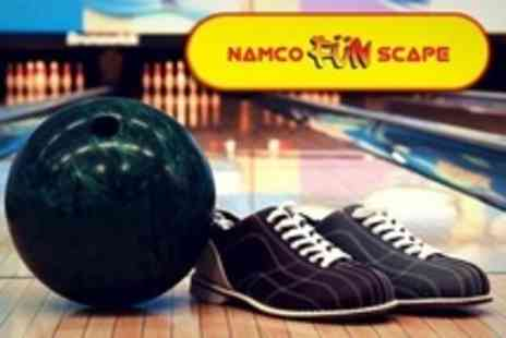 Namco Funscape Braintree - Bowling Two Games Plus Arcade Tokens For Up to Four - Save 70%
