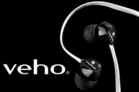 Veho - 360 Stereo Noise Isolating Tangle Free Earphones - Save 73%