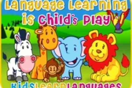 Kids Learn Languages - 2 French or Spanish language DVDs for children - Save 50%