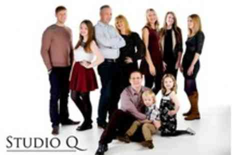 Studio Q Photography - Group Photoshoot For Up to Ten People With Five Prints - Save 91%