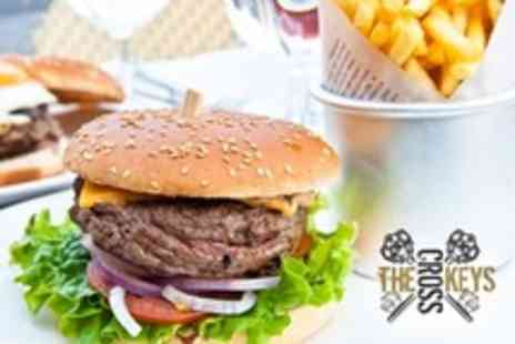 The Cross Keys - Burger and Chips For Two With Drinks - Save 50%
