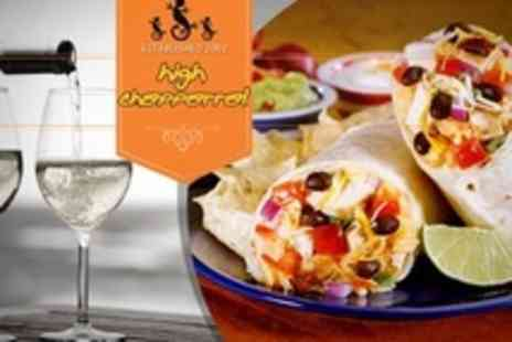 High Chaparral - Two Course Mexican Meal For Two With Glass of Wine Each - Save 33%