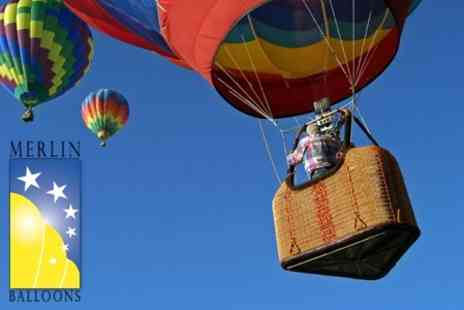 Merlin Balloon - Champagne Hot Air Balloon Ride for £82 - Save 59%