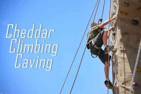 Cheddar Climbing Caving - Rock Climbing Experience with an Instructor for £29 - Save 68%