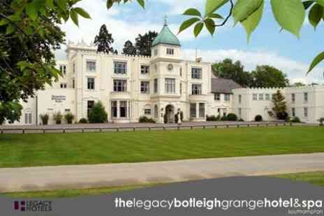The Legacy Botleigh Grange Hotel & Spa - Hampshire: One Night Stay For Two With Breakfast, Dinner, Afternoon Tea, Glass of Bubbly, and Access to Spa Facilities - Save 53%