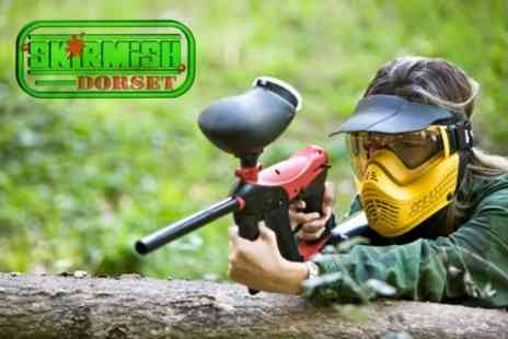Skirmish Dorset - Taster Paintball Session With 100 Paintballs and Smoke Grenade for £3 - Save 82%
