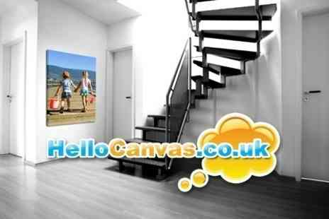 Hello Canvas - Professional Photo Prints on a 60x80cm Canvas - Save 61%