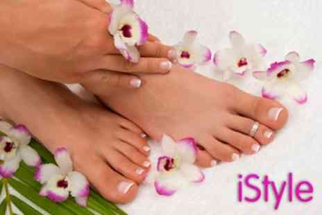iStyle Hair and Beauty - Deluxe Jessica Manicure and Pedicure - Save 62%