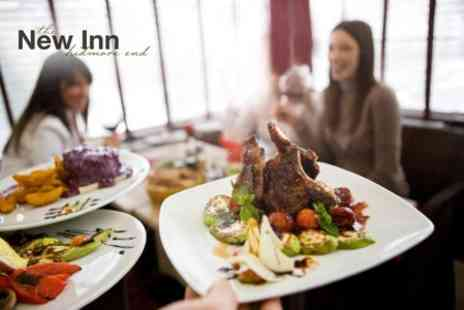 The New Inn - Two Courses of British Fare For Two With Drinks - Save 61%