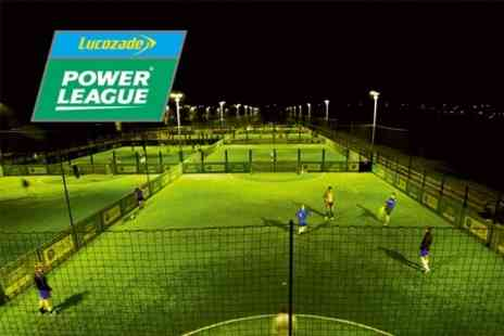 Lucozade Powerleague - Five a Side Football Pitch Hire - Save 59%