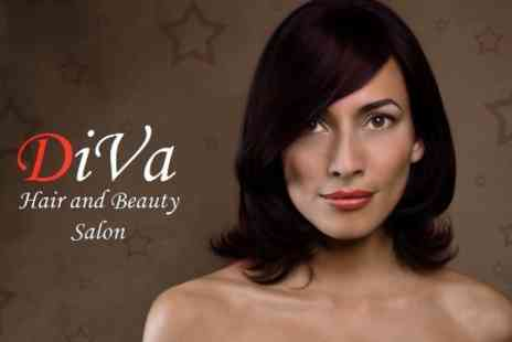 Diva Hair and Beauty - Half Head of Highlights or Semi Permanent Colour Plus Cut and Blow Dry and Henna Conditioning Treatment - Save 68%