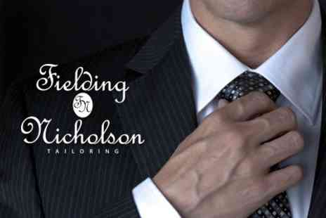 Fielding & Nicholson - Bespoke Suit for £630 from Fielding and Nicholson Tailoring - Save 56%
