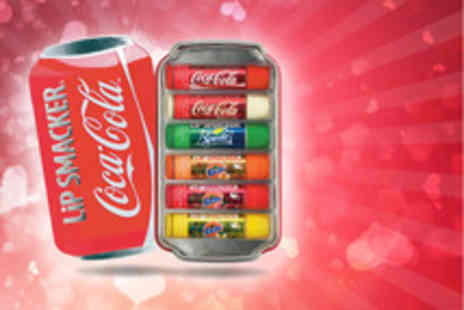 Spicy Decor - 6 Piece Lip Smacker lip balm Coca Cola gift pack tin - Save 55%