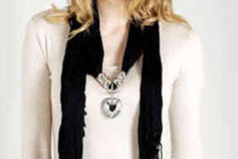 Kurt Muller - Crystal Heart Scarf - Save 52%