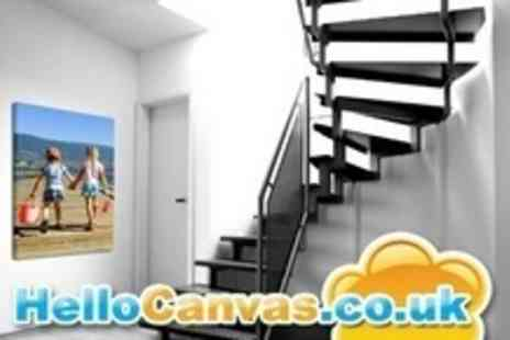 Hello Canvas - Personalised 60x80cm Canvas Photo Prints - Save 61%