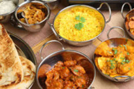 Bombay Brasserie - Indian Meal for 2 inc Poppadums, Main Course and Rice - Save 60%