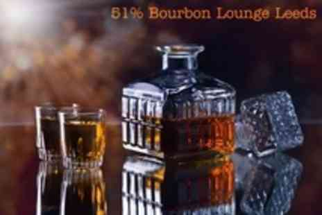 51% Bourbon Lounge - Bourbon Tasting Masterclass With Canapes For One - Save 60%