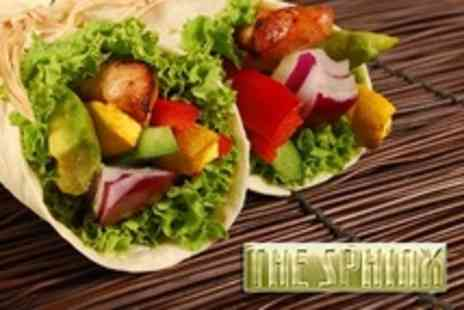 The Sphinx - Two Burritos With Steak, Chicken or Veggie Filling - Save 50%