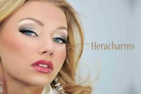 Heracharms - Semi Permanent Lash Extensions With Eyebrow Wax or Thread - Save 58%