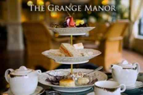 The Grange Manor - Champagne Afternoon Tea For Two - Save 53%