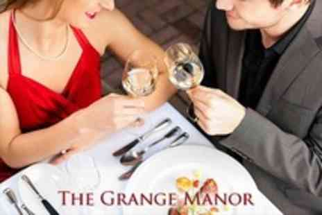 The Grange Manor - Valentines Dinner Dance For Two With Four Course Meal, Bubbly and Entertainment - Save 50%