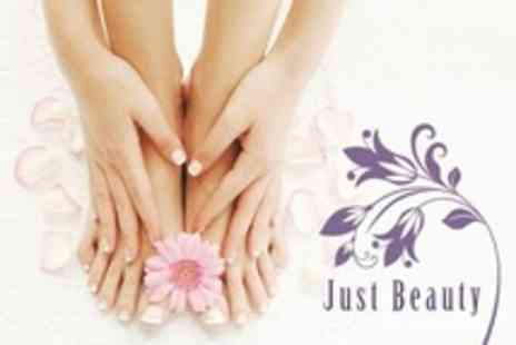 Just Beauty - Manicure and Pedicure With Paraffin Hand Treatment - Save 50%