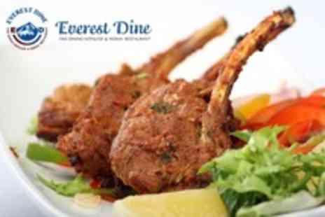 Everest Dine - Fine Dining Three Courses of Indian and Nepalese Fare For Two - Save 60%