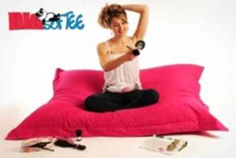 Sleep Softly - Giant Bean Bag For Indoor or Outdoor Use In Choice of 10 Colours - Save 66%
