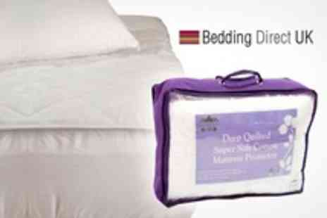 Bedding Direct - Deep Quilted Supersoft Cotton Mattress Protectors - Save 70%