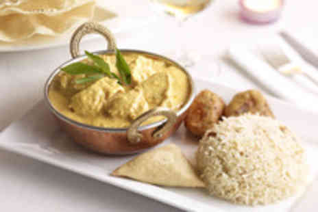 The Nimboo - Two course Indian meal for 2 including starter, main & wine each plus rice or naan - Save 47%