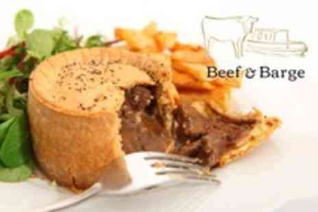 Beef and Barge - Pie and Beer For Two - Save 51%