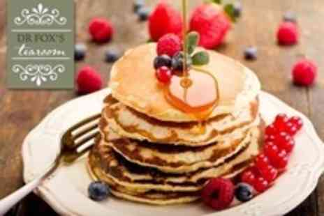 Dr Foxs Tearoom - Pancakes With Choice of Toppings and Hot Drinks For Two - Save 60%