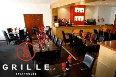 Grille Steakhouse - Two Course Meal for Two for £20 - Save 62%